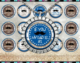 """Fathers Day Mustache 378 - INSTANT DIGITAL DOWNLOAD - 1"""" Bottlecap Craft Images (4x6) Digital Collage Sheet"""