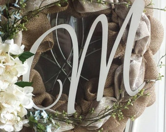 """Unfinished Front Door Letter, Unfinished, Unpainted -- Perfect for Crafts, DIY, Nursery, Kids Rooms, Weddings – Sizes 1"""" to 42"""""""