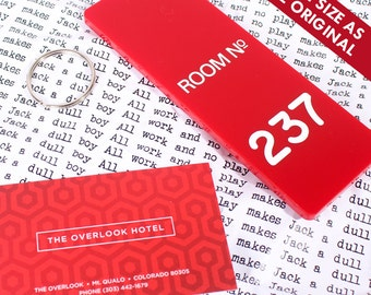 Room 237 - The Overlook Hotel Key Fob - The Shining