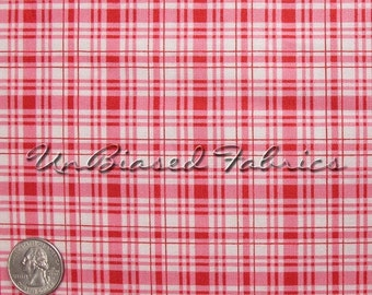 Penelope Pretty Plaid - Red/White by LakeHouse Dry Goods - Cotton Fabric Yardage