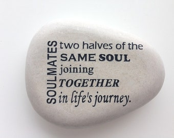 "SOULMATES Engraved 4"" Stone"