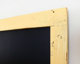 Extra Large Framed Chalkboard Chalk Board made from Reclaimed Wood in Soft Gold 24 x 36 *MORE COLORS AVAILABLE*