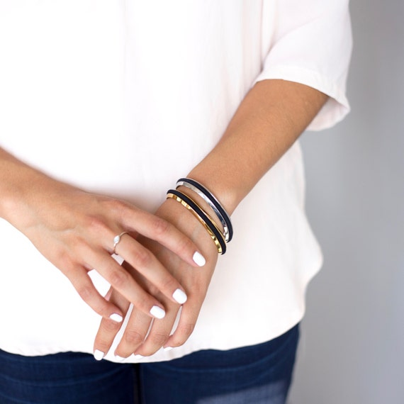 gold and silver hair tie bracelet