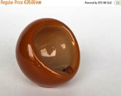 20% OFF Vintage Glass Orb Ashtray / Retro 60's / Sphere Shaped / Orange