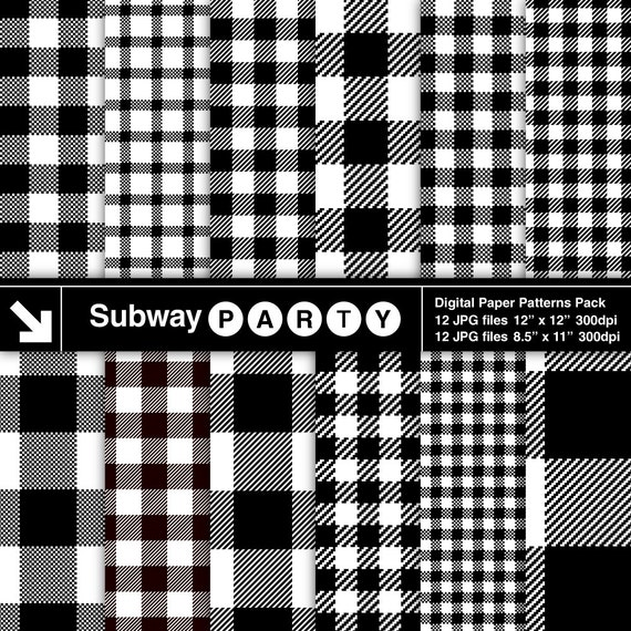 Lumberjack Flannel Black And White Buffalo Check Plaid And Gingham