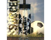 3 dollar FLAT RATE SHIPPING Soccer/Coach / Team / Personalized gift 24 oz water bottle