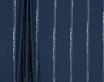 "Indigo Curtains, Stripe, Custom Curtains,Pair Drapery Panels, Curtains,24"" Wide,52"" Wide"