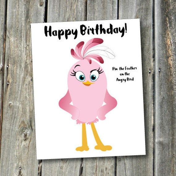Angry Bird Stella Pin The Feather On The Angry Bird Birthday