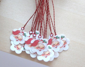 dollhouse miniature christmas santa gift tags 12th scale