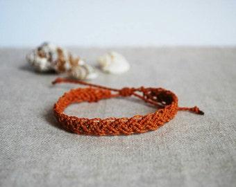 Braid Bracelet / Braided Jewelry / Macramè Brecelet for Him or for Her / Adjustable size / Friendship Bracelet / Brown Bracelet