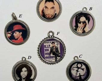 Prince / The Symbol / The Artist Silver Tone Charms
