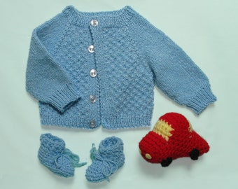 Baby Boy Sweater Set with Car Toy
