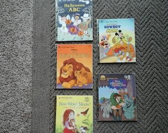 Sale Vintage  Collectible 6 Children's Golden Books 1990's