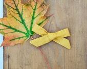 Sunflower - Prairie Bow, handtied cotton bow