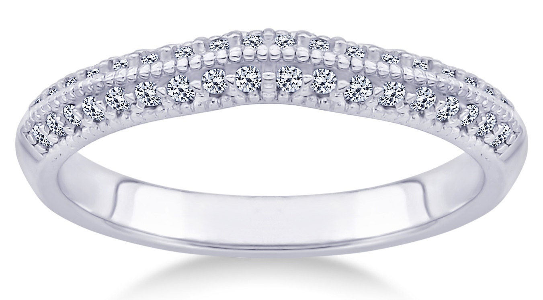 Bridal Rings Set Diamond Engagement Rings 14K Gold Womens Wedding Rings Match