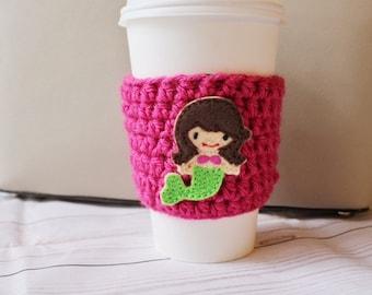 Mermaid Coffee Cozy ~ Crochet Coffee Cozy ~ Mermaid Cup Cozy