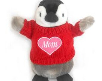 "I Love Mom Penguin Plush (10"" Tall)"