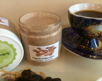 Raw ORGANIC COFFEE butter- Spa Facial- Sugar Scrub- deliciously refreshing by Spa Uptown- 8 fl oz
