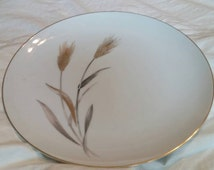 On Sale Sango Fine China 10.5 inch Autumn Gold Dinner Serving Plate Made in Japan Wheat Pattern with Gold Rim