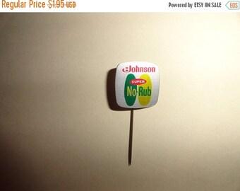 VALENTINES 50% OFF Johnson Super no rub Vintage Stickpin Metal 1.5 inch length