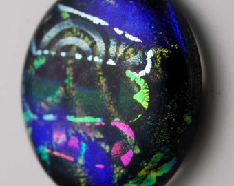2512 large dichroic cabochon - free shipping