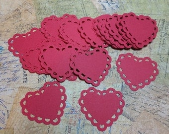 Scalloped Edge Hearts/Doilies   #CON-83