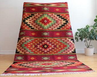Vintage Scandinavian Wool Rug - 'Leena' - FREE SHIPPING in USA!!!