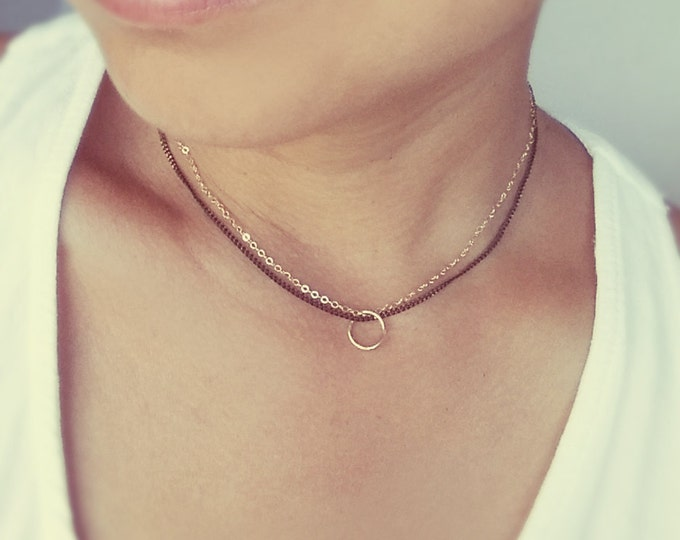 Everyday Minimalist Necklace 14K Gold Fill
