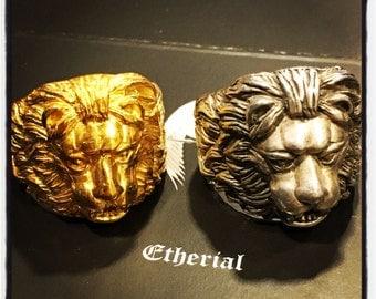 Etherial Handmade Lion Ring Leo Ring Lion Ring King of the Jungle King Lion Ring Lioness Ring Lion King Lion King Ring Leo King Ring Lion
