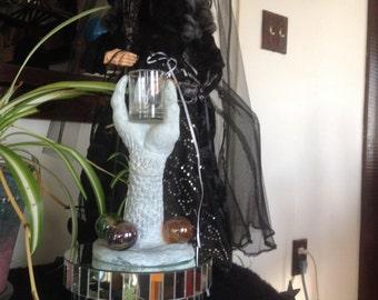 Hugh dragon claw candle holder
