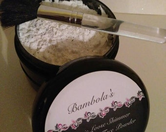 8oz Bambola's Organic Loose Shimmering Translucent Face Powder