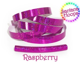 Raspberry Fully Taped Performance Hula Hoop Polypro or HDPE