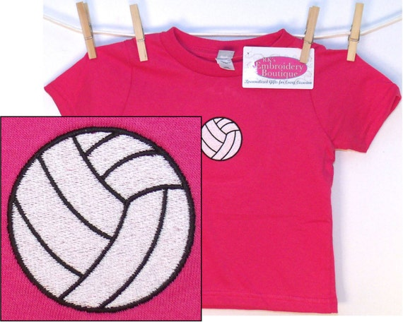 Volleyball baby or toddler t shirt free name monogram