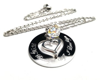Wife Necklace + Gifts for her + Personalized Valentines Day Jewelry