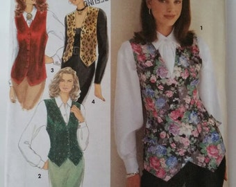 Simplicity Sewing Pattern 8621 Misses' Set of Lined Vests, Each in Two Lengths in Size 16, 18, 20