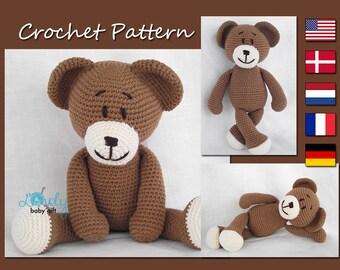 Crochet Pattern, Amigurumi, Bear, Teddy Bear, Animal Crochet Pattern, CP-111