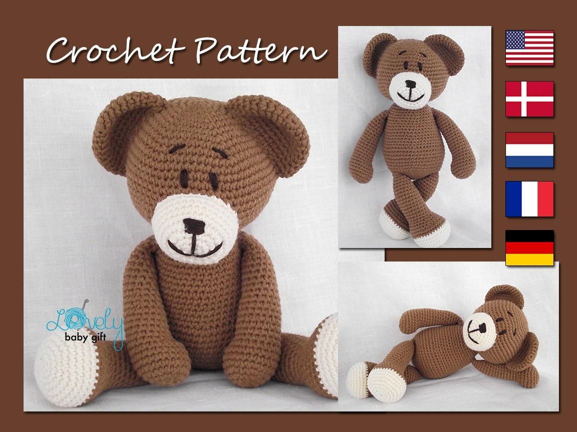 Amigurumi Pattern Teddy Bear : Crochet Pattern Amigurumi Bear Teddy Bear Animal Crochet