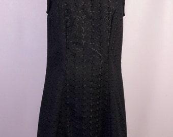 Black Embroidered Lottie Dress
