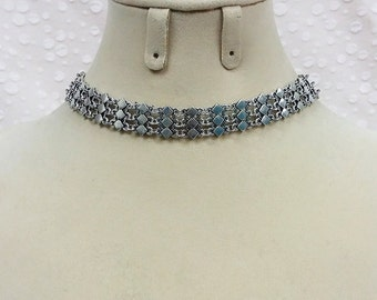 Silver Boho Choker Necklace