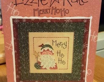 MERRY HOHOHO - Lizzie Kate Snippet - Cross Stitch Chart #S08 Christmas