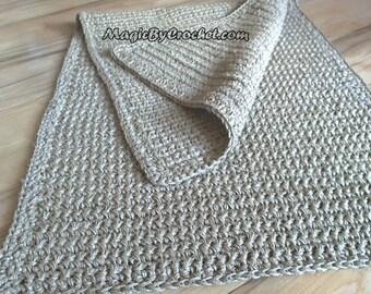 Hallway Rug,  Jute Runner Rug - 270 cm  Natural Fiber , Handmade, Crochet Rug, Carpet