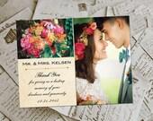 """Wedding Thank You Magnets - AshwoodLeaf Vintage Photo Personalized 4.25""""x5.5"""""""