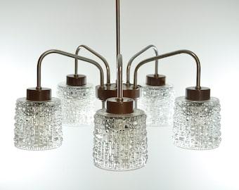 5 Light Ceiling Lighting, Ceiling Light, Mid Century Light, Pendant Light, Pendant Lighting, Mid Century Lighting, Pendant Lamp