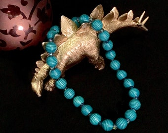 Turquoise Chunky Beaded Necklace - One of a Kind