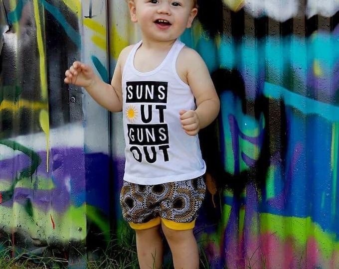 Suns Out Guns Out - Boys Summer Tee - Boys Summer Shirt - Suns Out Guns Out Toddler Shirt - Toddler Summer Shirt - 21 Jump Street - 22 Jump