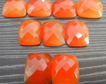 10 Pieces Finest Quality Lot Carnelian Octagon Cushion Checker Cut Gemstone