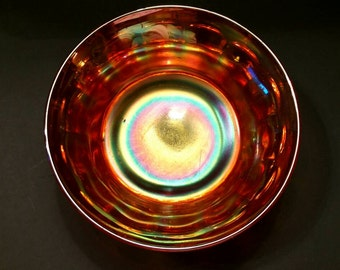 Vintage Marigold Carnival Glass Candy/Nut Bowl (149-1)