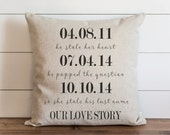 Our Love Story 20 x 20 Pillow Cover //Housewarming Gift//Throw Pillow//Wedding//Anniversary//Gift for Them//Sentimental Gift