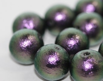 Miyuki Cotton Pearl - Rich Green Black J674: 10pcs