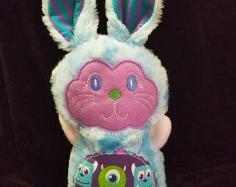 Ready to Sell ITH Monster Bunny, personalized plush stuffed toys